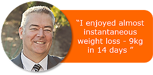 I enjoyed almost instantaneousweight loss - 9kg in 14 days!